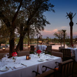 Royal Palm Restaurant Terrace night