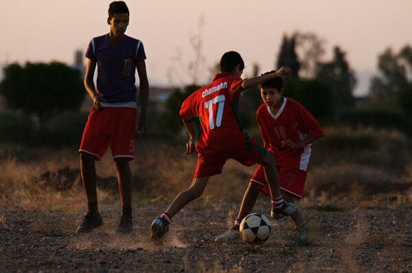 Playing football, Marrakech