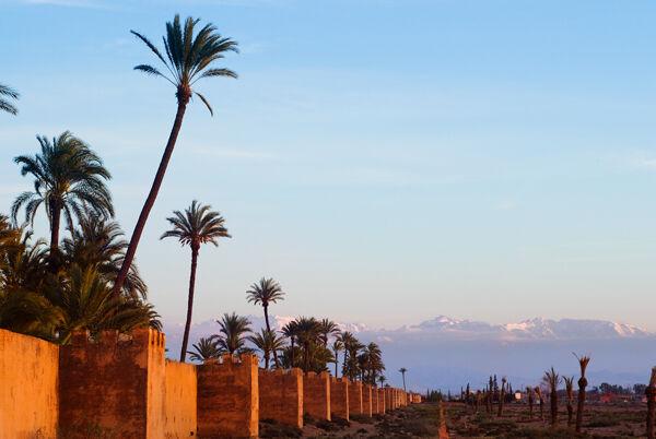 Walls at the Agdal Gardens Marrakech