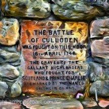 Culloden Memorial Plaque