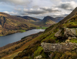 view from haystacks