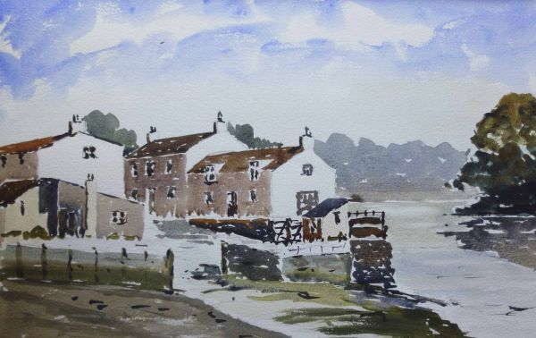 Staithes inner harbour N. Yorkshire