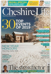 CHESHIRE LIFE MAGAZINE COVER  January 2019