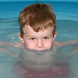 In the paddling pool