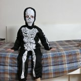 Skeleton on the bed