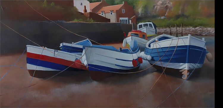 Boats in Staithes Beck