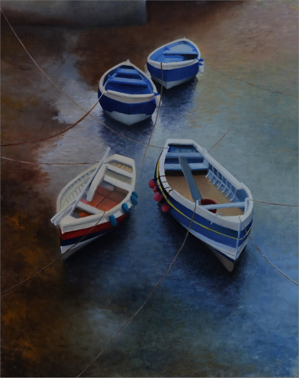 Boats in Staithes Beck.