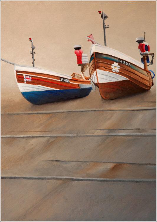 Boats at North Landing Flamborough