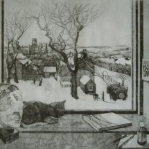Durham Winter 2001 (etching)