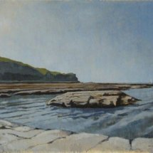 """Kettleness point (oil on canvas, 12 x 8"""")"""