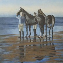 "'Sea Horses No 1' (oil on canvas, 30 x 20 "", sold)"