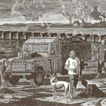 Sea coaling Seaton Carew (wood engraving)