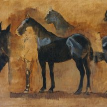 Study for 'Sea Horses No 1' (oil on canvas)
