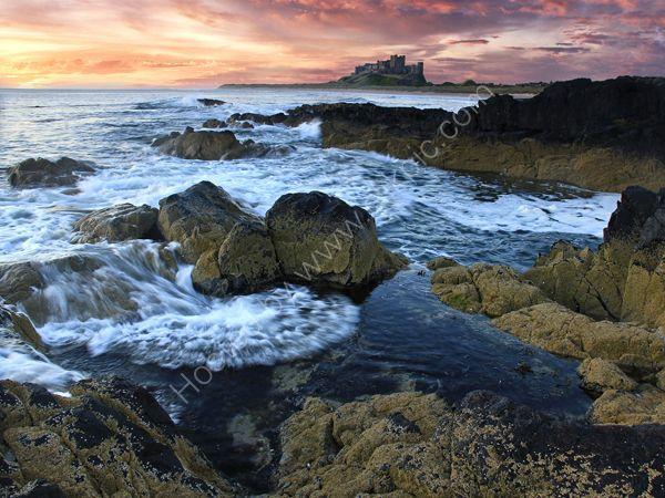 bamburgh castle sunrise 2