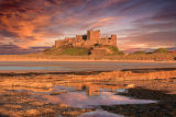 bamburgh castle evening