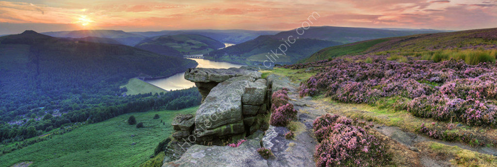 peak district photo Bamford edge sunset