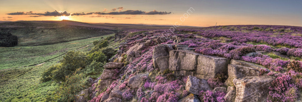 peak district photo Burbage Edge sunset