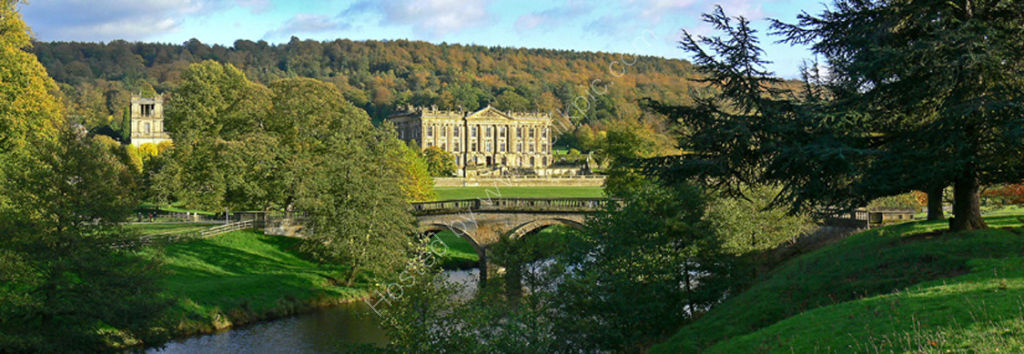 peak district photo:Chatsworth bridge
