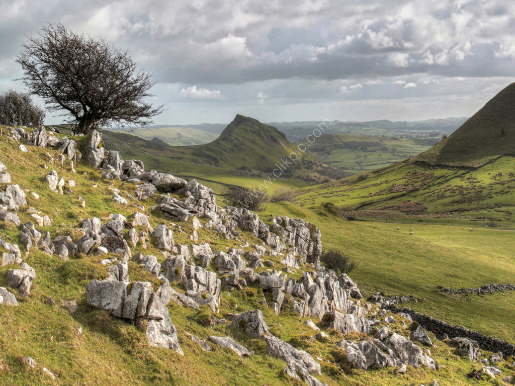 peak district photo chrome hill from Brand end