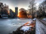gawsworth church winter