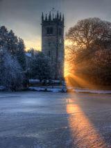 gawsworth church sunset