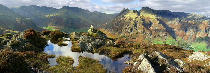 lake district photo langdales from lingmoor