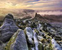 peak district ramshaw rocks dawn frost