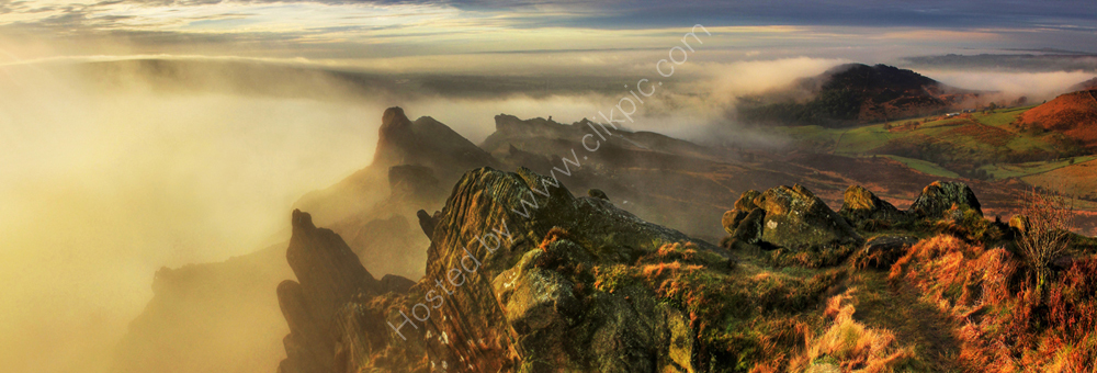 peak district photo ramshaw rocks misty dawn