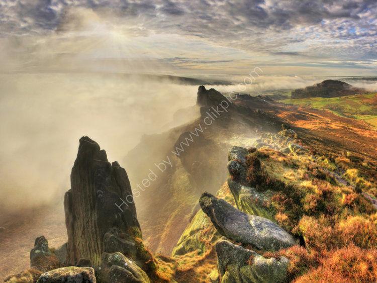 peak district photo ramshaw rocks dawn