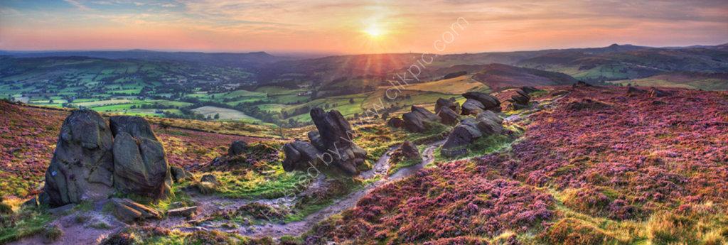 peak district photo roachend sunset