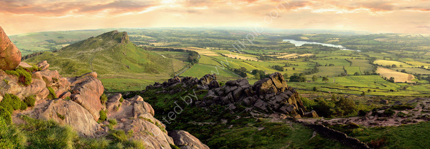 peak district photo Hen cloud summer panoramic