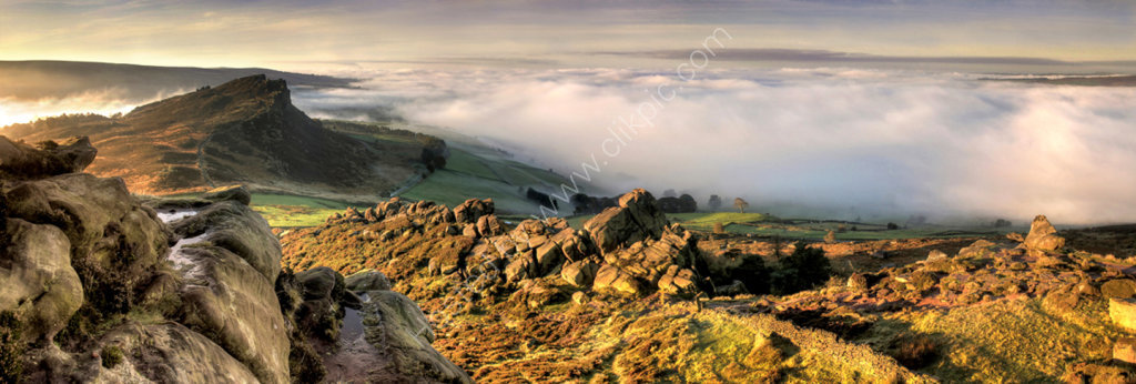 peak district photo The roaches mist
