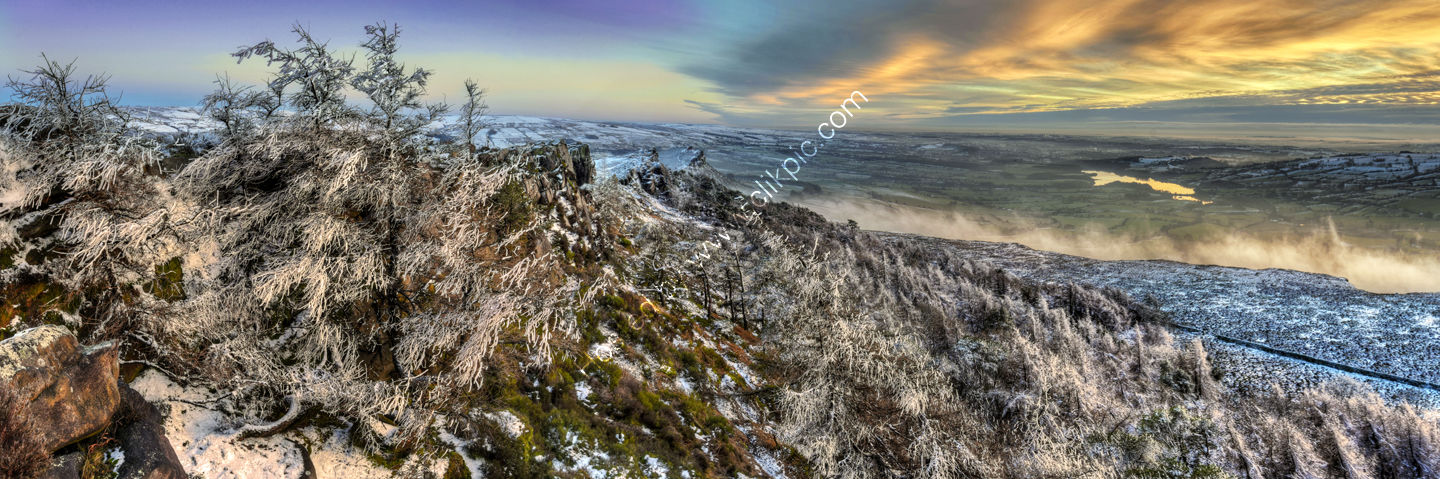 Peak District Photo The Roaches Frosty Sunset