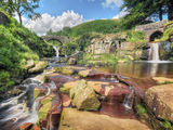 peak district photo Three shire heads waterfalls