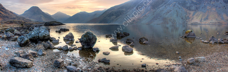 lake district photo wastwater evening