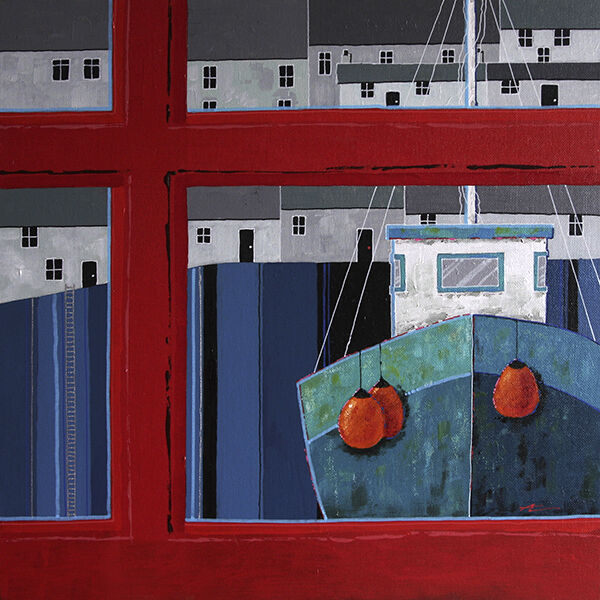 Polperro Harbour & Phone Box 2