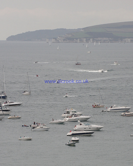 boats coming across from Swanage