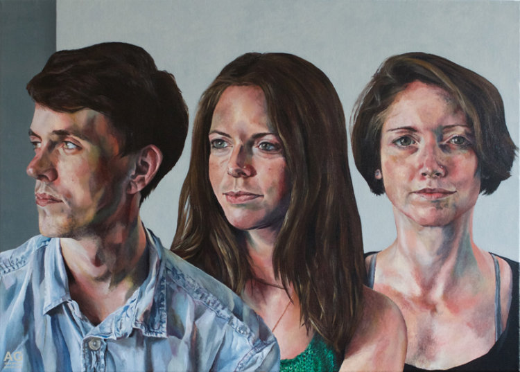 Commissioned portrait of siblings by Alexandra Gould