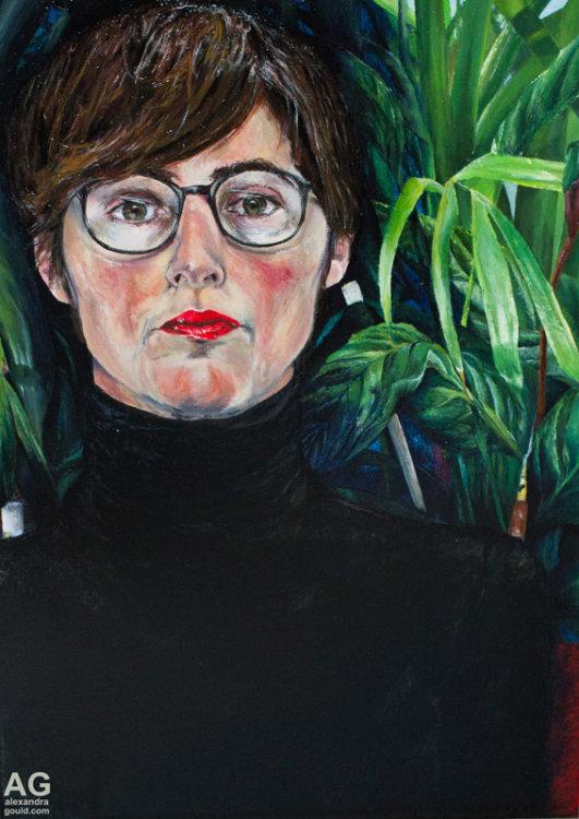 Defensive portrait by artist Alexandra Gould