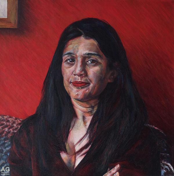 Portrait by British artist Alexandra Gould