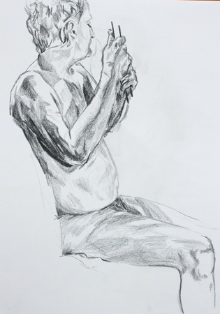 Life Drawing Sketch By Alexandra Gould