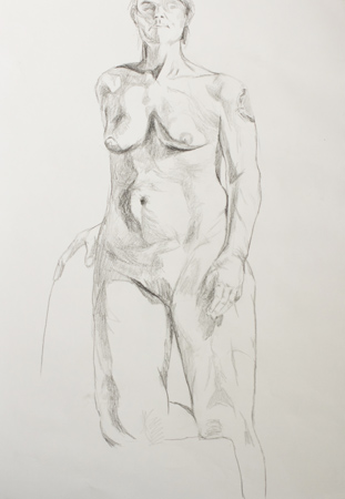 Nude sketch by Alexandra Gould
