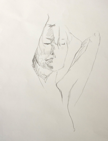 Life Drawing sketch by Alex Gould