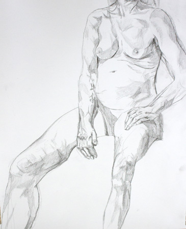 Nude seated by Alexandra Gould