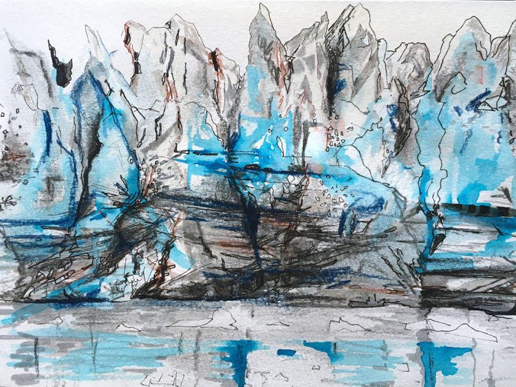 Glacial face sketch