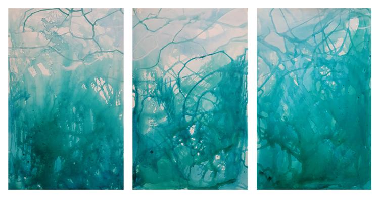 Albedo Triptych, 2018 R Heard