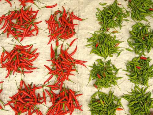 Chilli market display