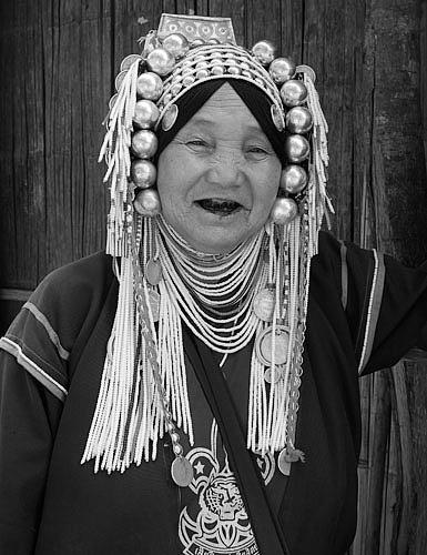 Akha hilltribe woman Chiang Rai