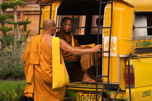 Buddhist monks Chiang Mai Thailand
