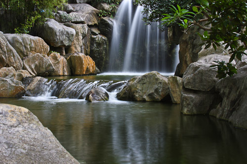 Silky waterfall using slow shutter speed